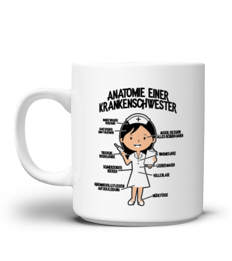Anatomie einer Krankenschwester - Geschenk - Tasse | Teezily
