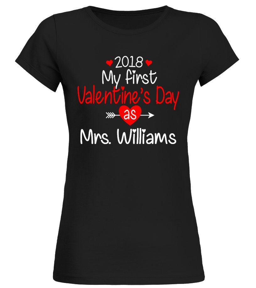 GIFTS FOR NEWLYWEDS FIRST VALENTINES DAY AS MRS CUSTOM SHIRT