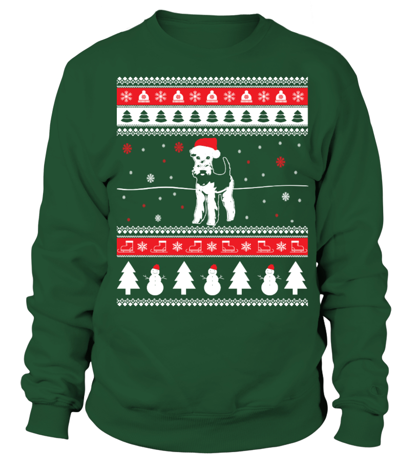 Airedale Terrier Ugly Christmas Sweater