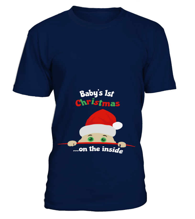 Gifts Christmas - Babys 1st Christmas  on the inside Round neck T-Shirt Unisex