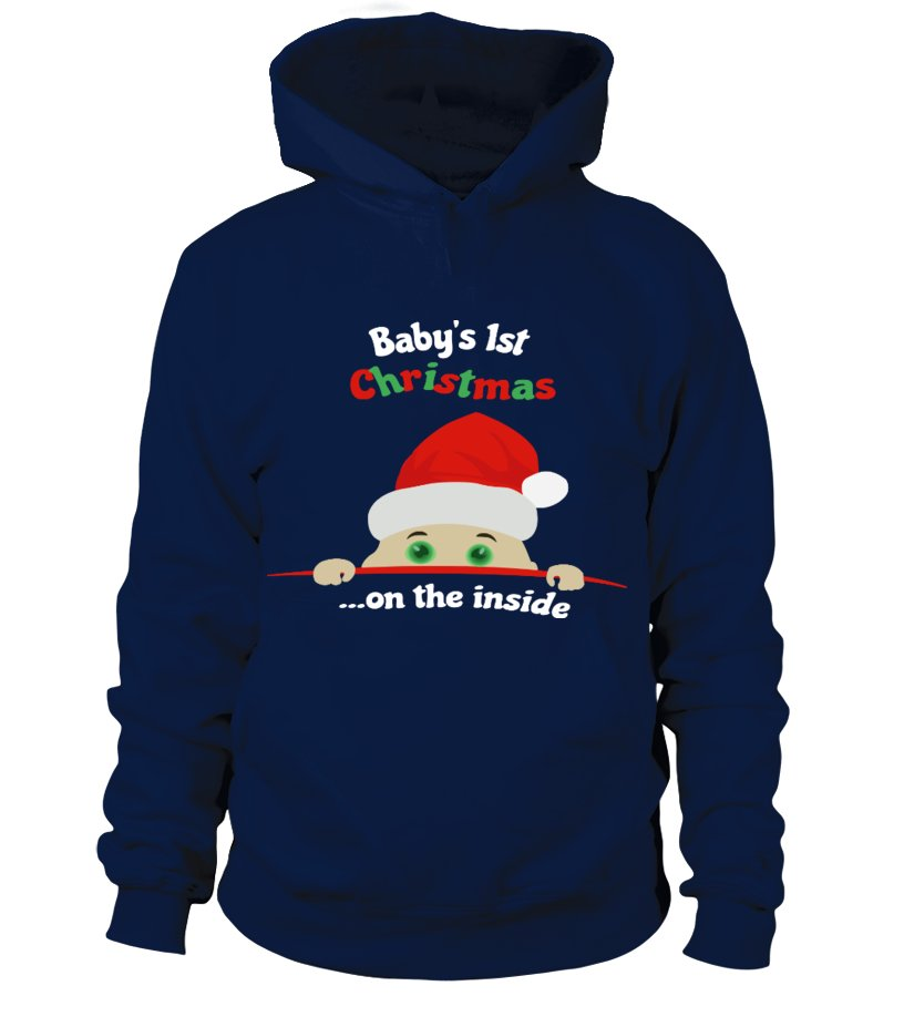 Gifts Christmas - Babys 1st Christmas  on the inside Hoodie Unisex