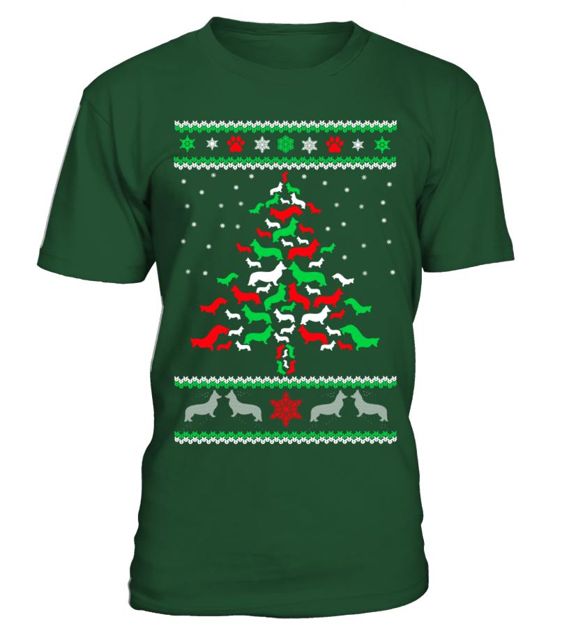 Amazing Christmas - Ltd Edition Corgi Christmas Tree Round neck T-Shirt Unisex