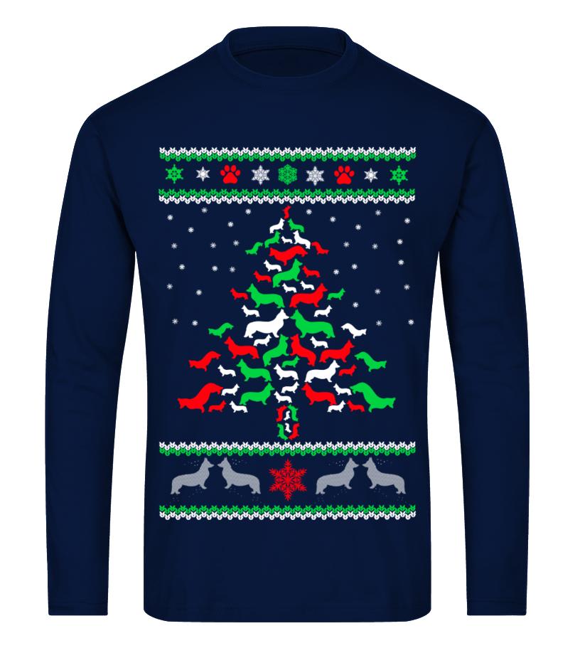 Amazing Christmas - Ltd Edition Corgi Christmas Tree Long sleeved T-shirt Unisex