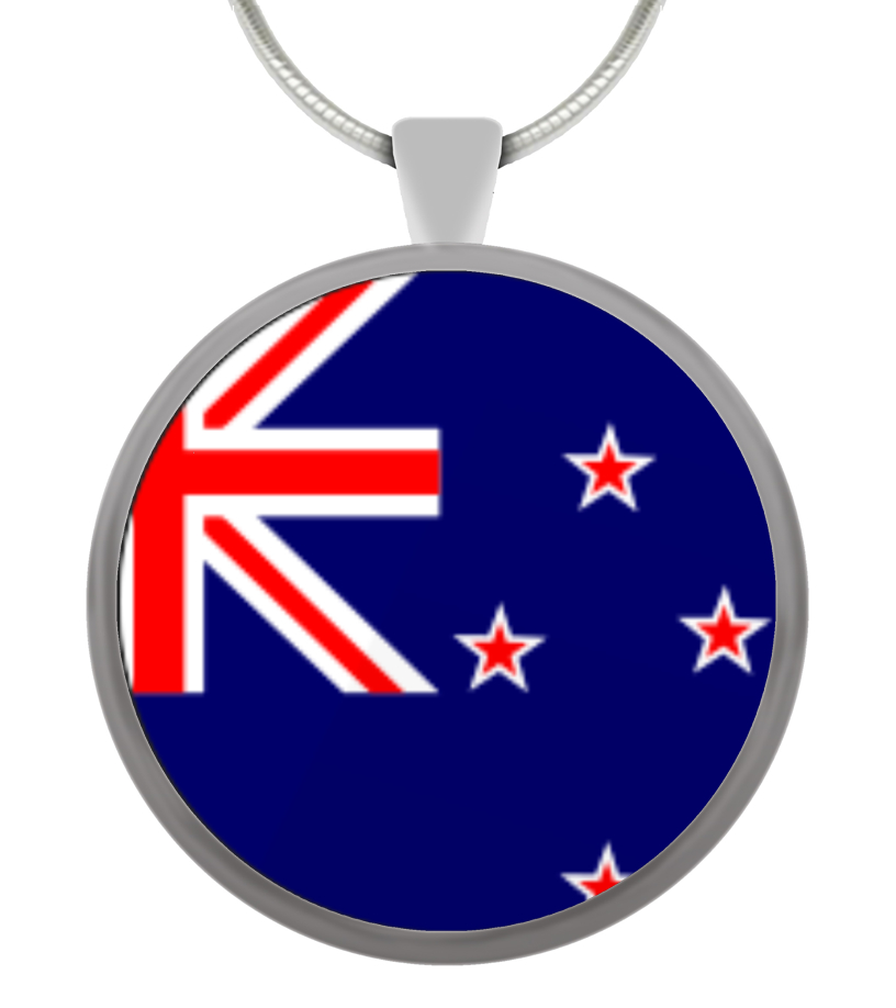 New Zealand Flag - Circle Pendant
