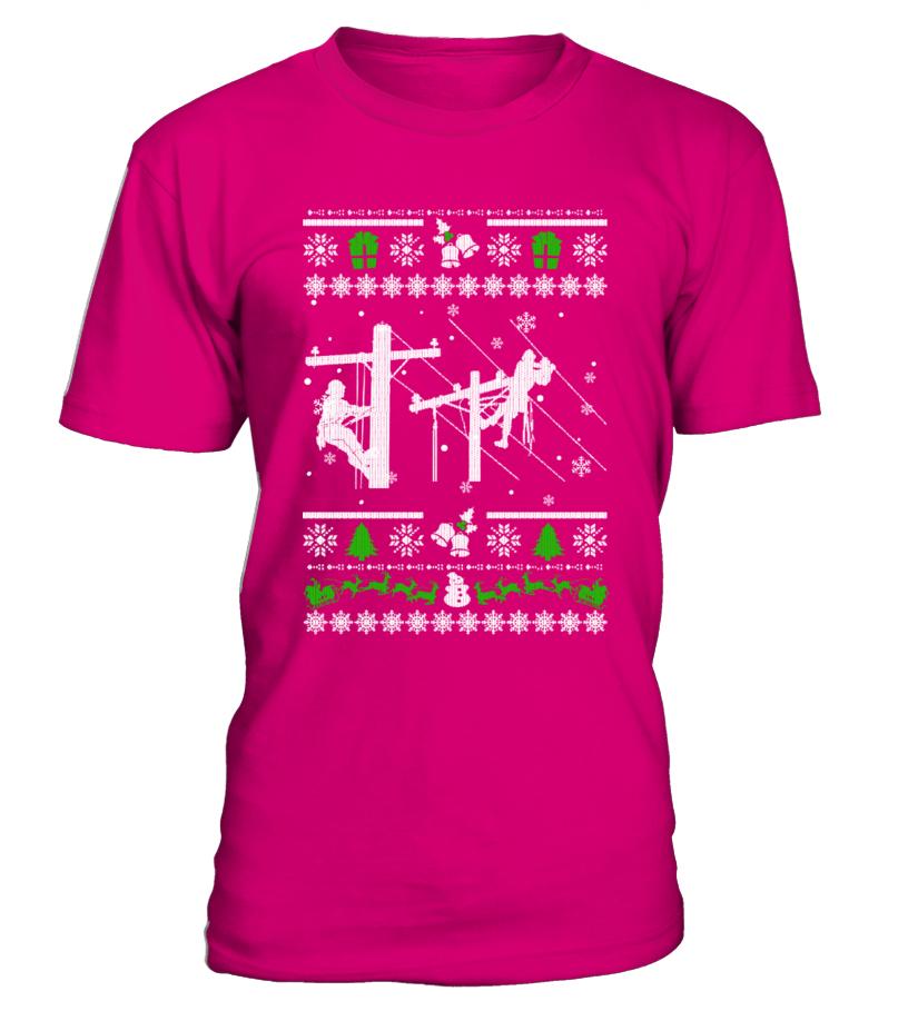 Ugly Christmas Sweater LINEMAN