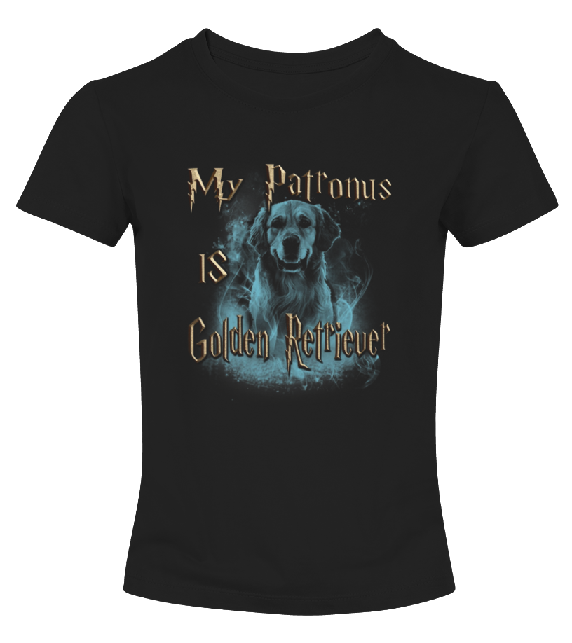 Best Christmas -  My Patronus Is Golden Retriever Puppies Christmas Sweater T Round neck T-Shirt Woman