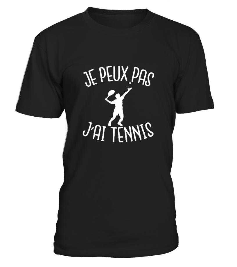 T-shirt je peux pas j'ai tennis