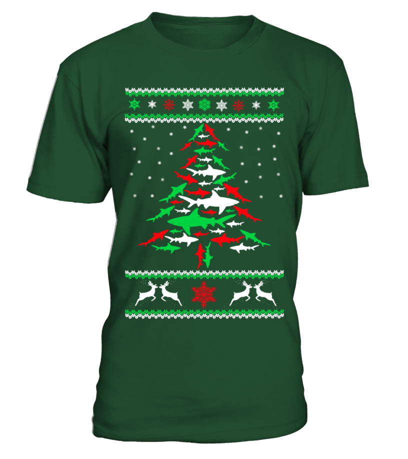 Best Christmas - Ltd Edition Shark Christmas Tree Round neck T-Shirt Unisex
