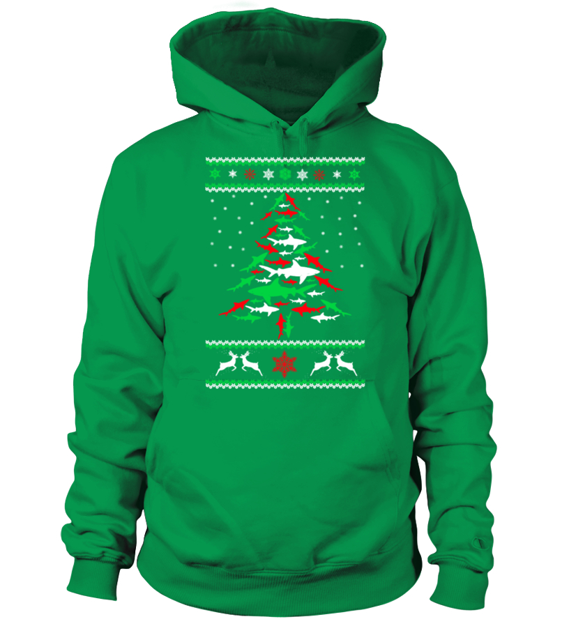 Best Christmas - Ltd Edition Shark Christmas Tree Hoodie Unisex