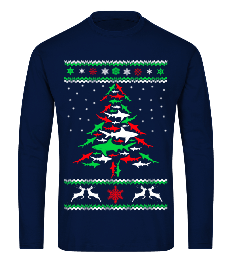 Best Christmas - Ltd Edition Shark Christmas Tree Long sleeved T-shirt Unisex