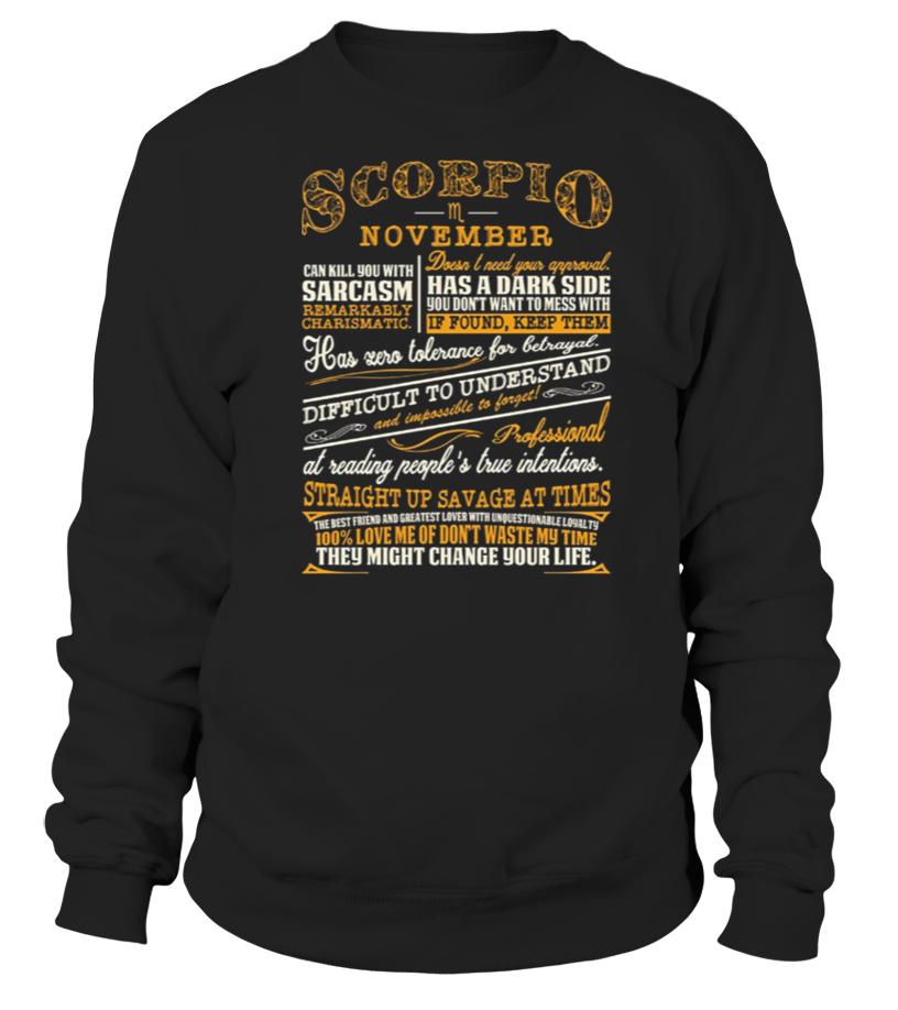 Gifts November Tshirt - SCORPIO NOVEMBER CHARACTERISTIC Sweatshirt Unisex