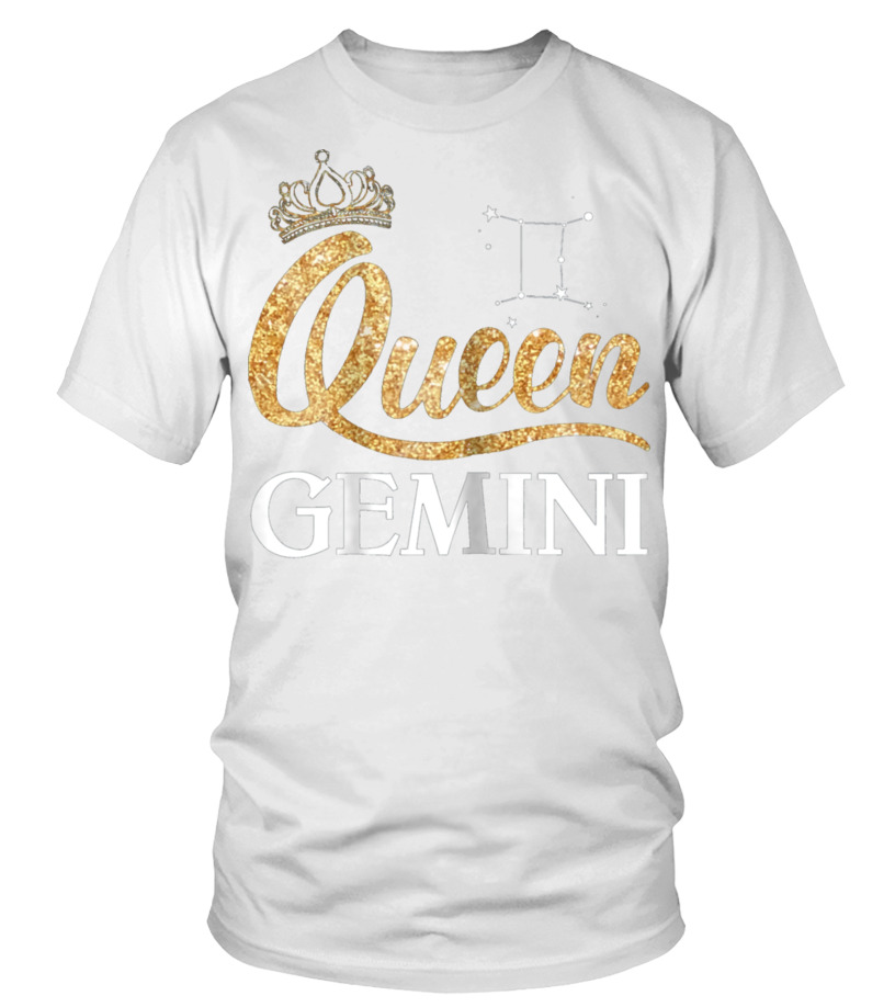 Gifts June T-Shirt - Womens Queen Gemini Zodiac May June Birt Round neck T-Shirt Unisex