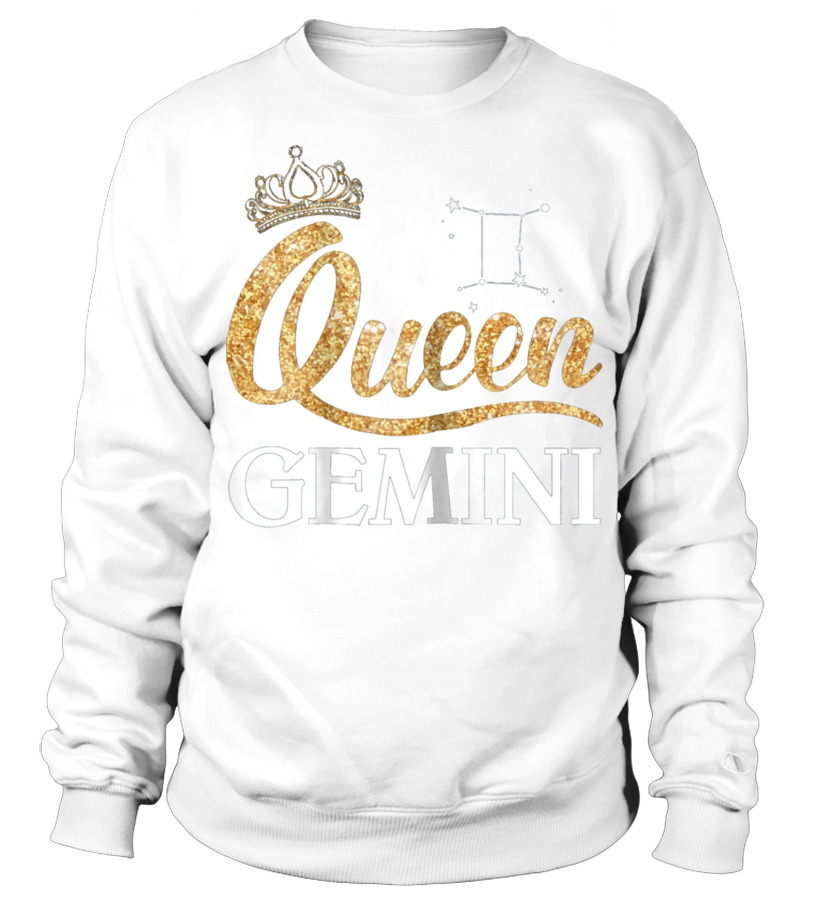 Gifts June T-Shirt - Womens Queen Gemini Zodiac May June Birt Sweatshirt Unisex