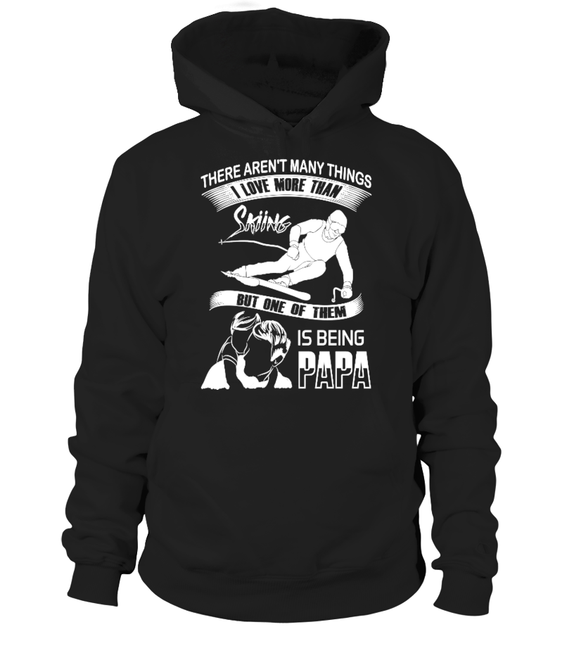 Amazing Father T-Shirt - Skiing Papa! Hoodie Unisex