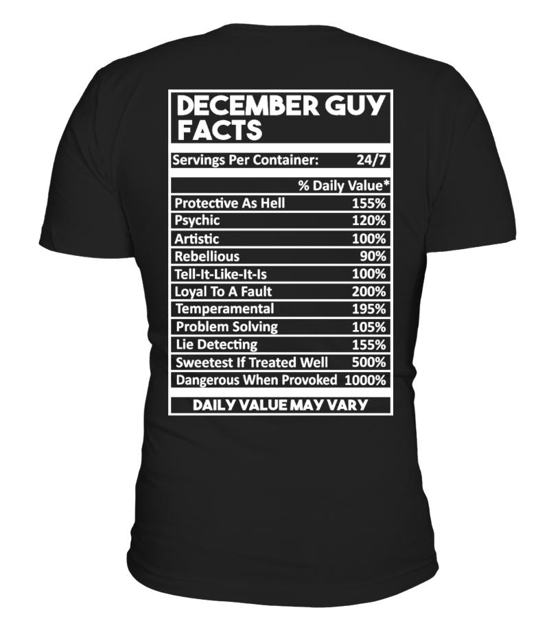 DECEMBER GUY FACTS TSHIRT