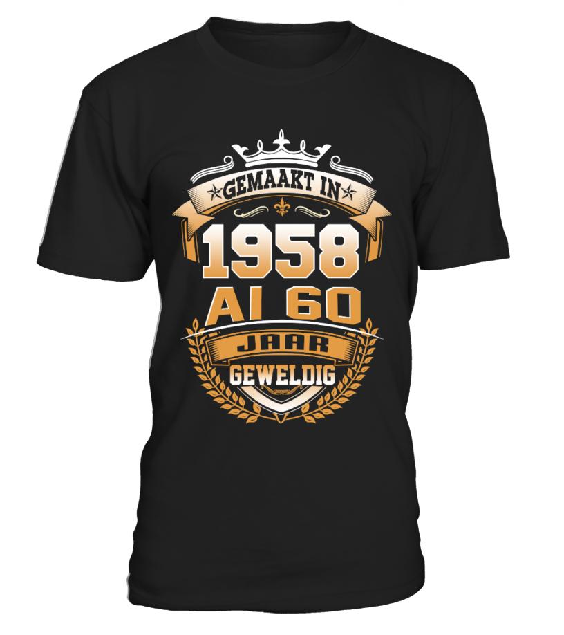 New year t-shirt design gemaakt in 1958 al 60 jaar ...