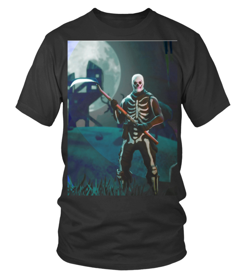 28a93f56cf Awesome Fortnite Skull Trooper 20 T-shirt, Sweater, Hoodie Round neck T-