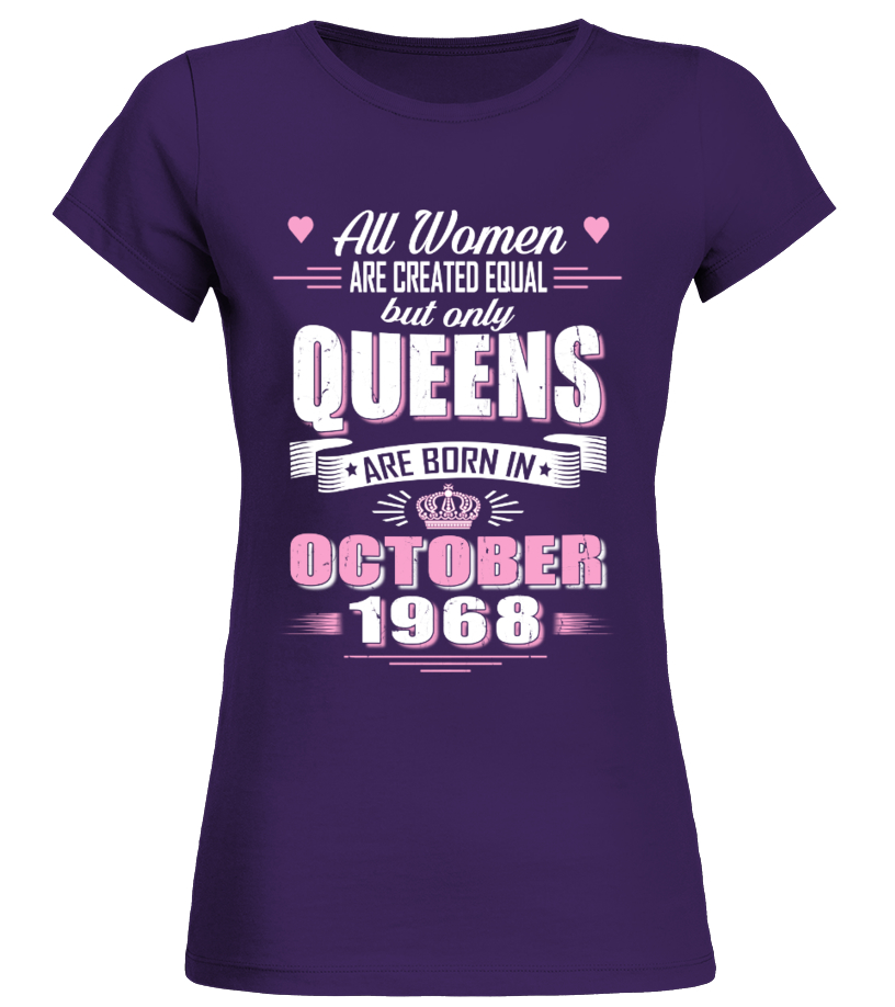 Old Car T Shirt American Vintage October 1968 Birthday Of Queens Shirts Men Electric Cars