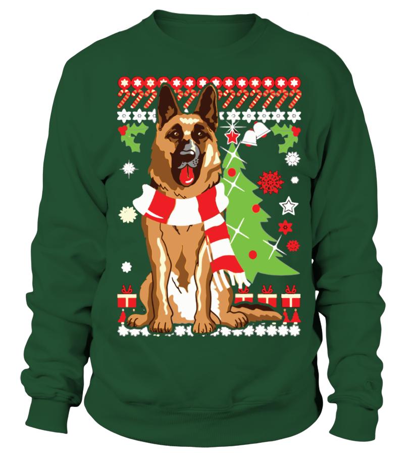 German Shepherd Ugly Christmas Sweater
