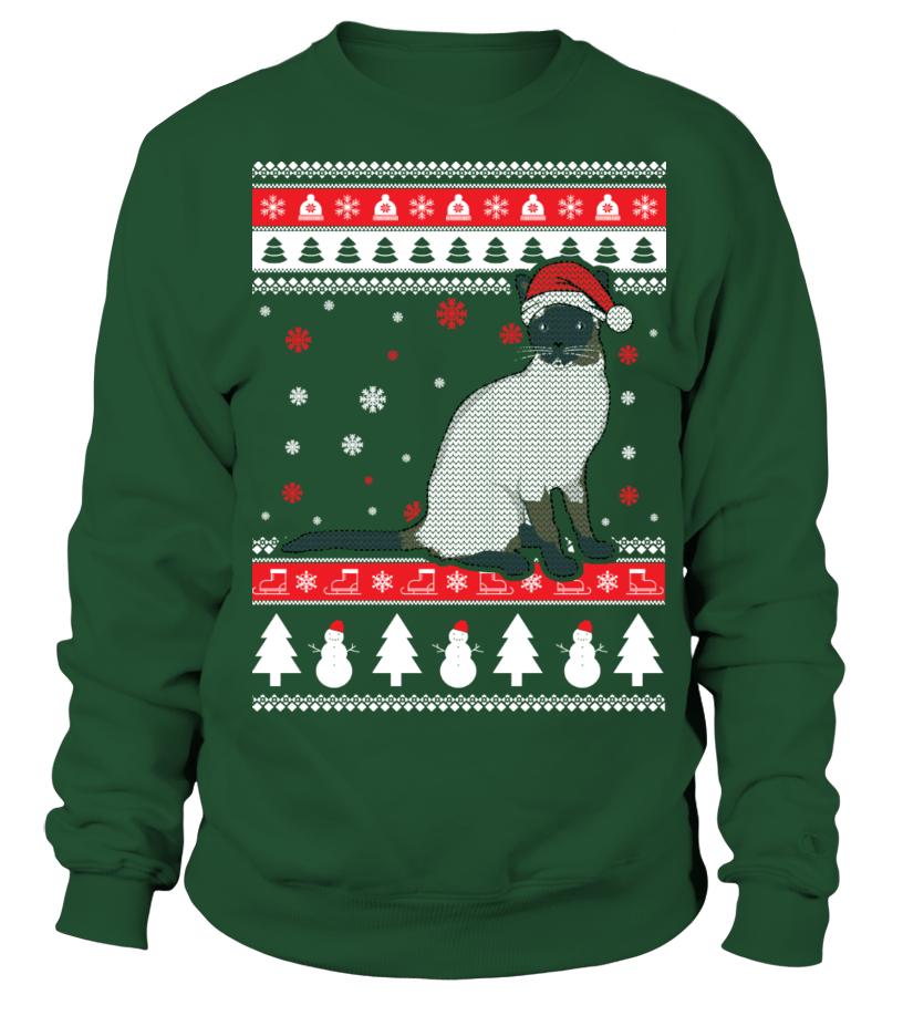 Amazing Christmas - Siamese Cat Ugly Christmas Sweater Sweatshirt Unisex