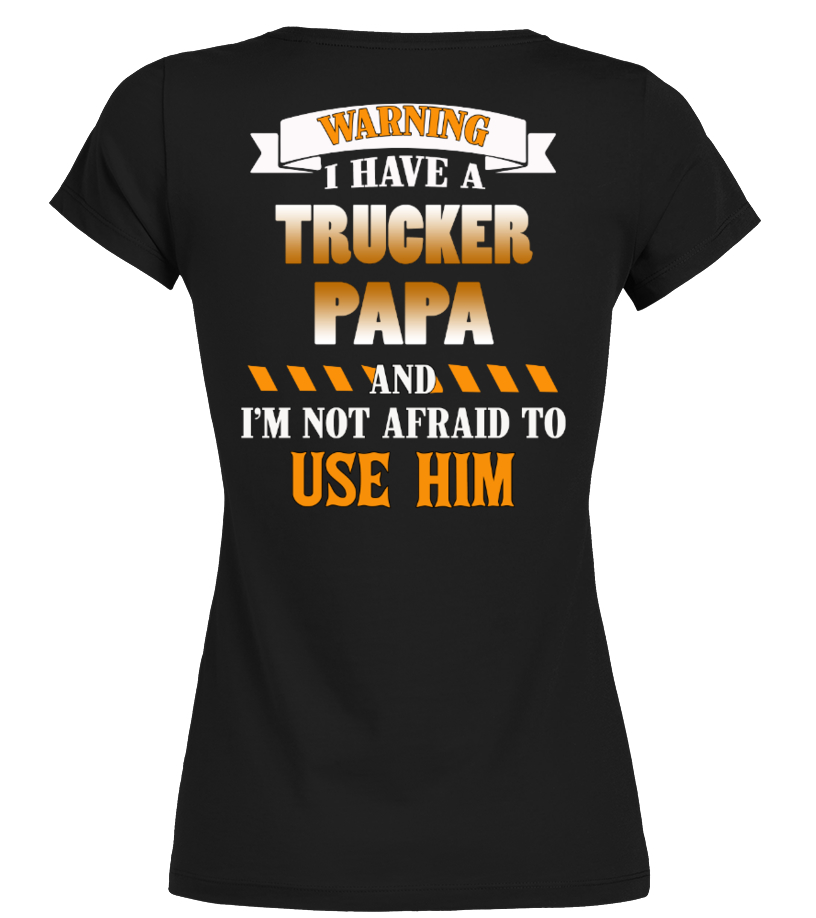 Shop Father - trucker papa Round neck T-Shirt Woman