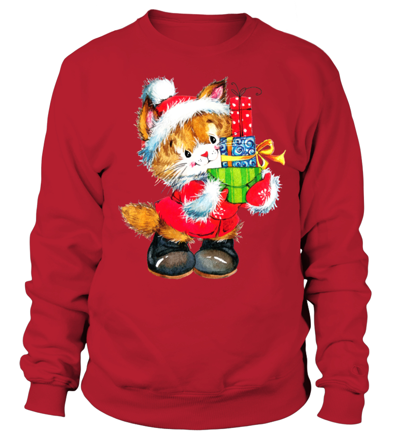 Shop Christmas - SUPERCUTE CHRISTMAS CAT Sweatshirt Unisex