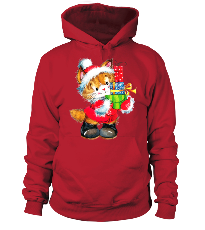 Shop Christmas - SUPERCUTE CHRISTMAS CAT Hoodie Unisex