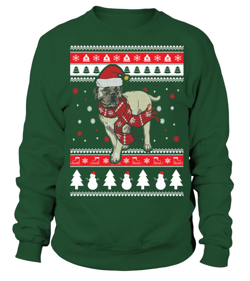 Shop Christmas - Bullmastiff Ugly Christmas Sweater Sweatshirt Unisex