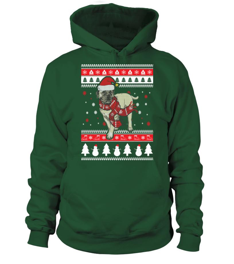 Shop Christmas - Bullmastiff Ugly Christmas Sweater Hoodie Unisex