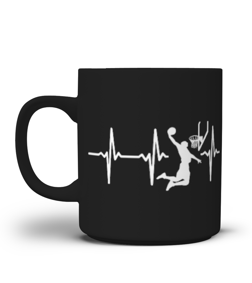 Basketball in my heartbeat - Mug