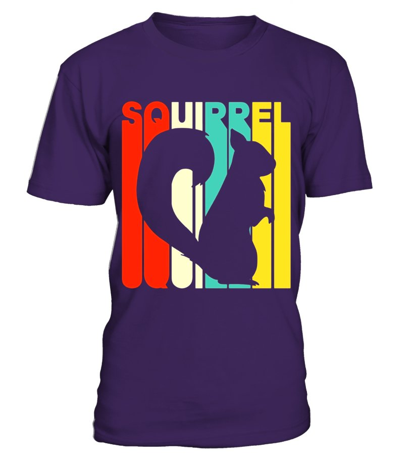 Vintage Style Squirrel Silhouette T-Shirt