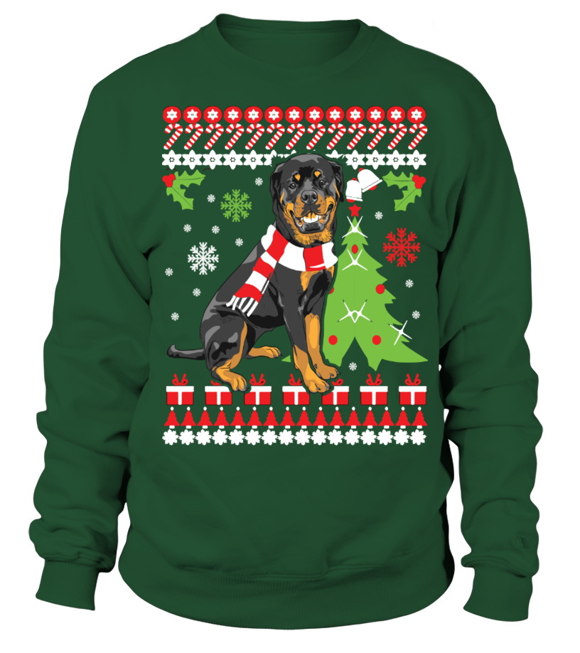 Awesome Christmas - Rottweiler Ugly Christmas Sweater Sweatshirt Unisex