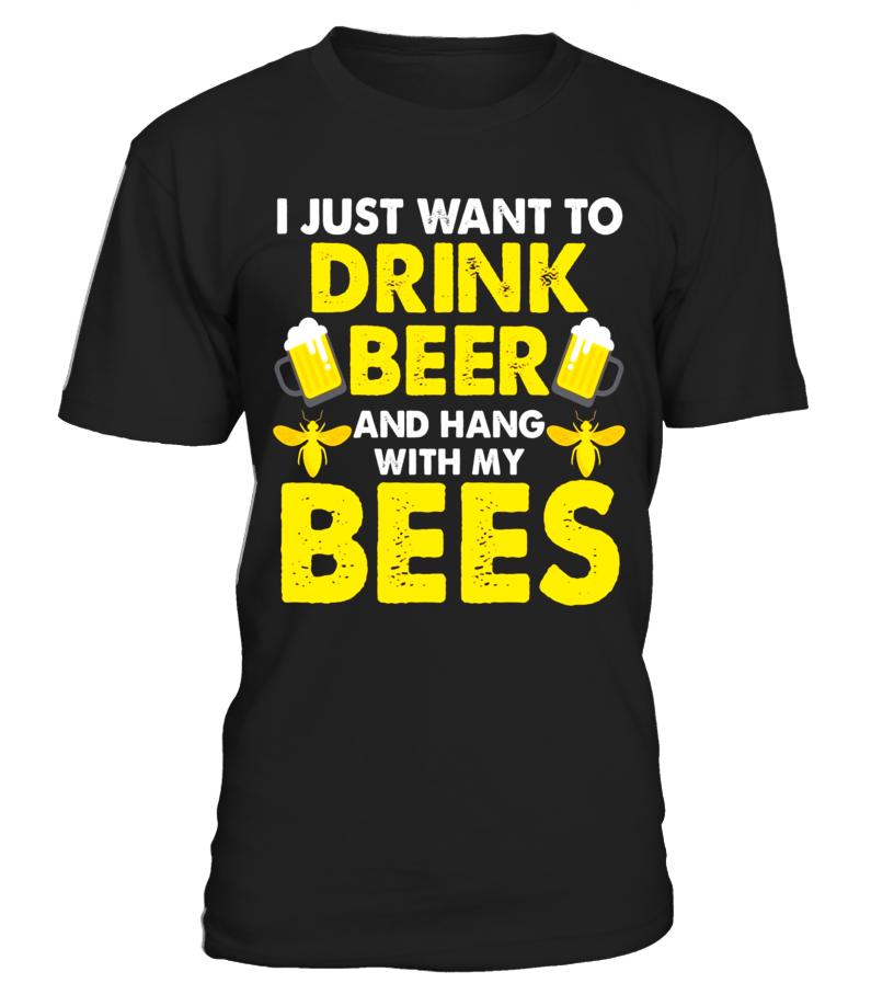 Beekeeper T Shirt Funny Honey Bee & Drink Beer Apiarist Gift