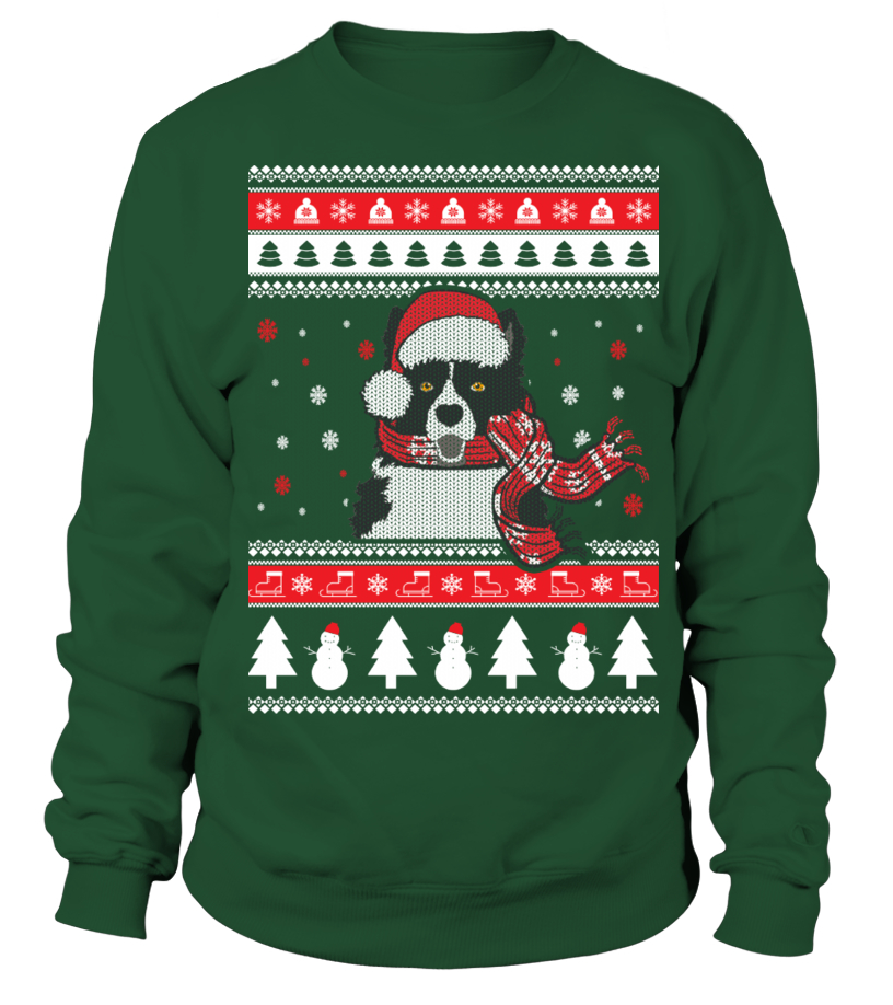 Border Collie Ugly Christmas Sweater