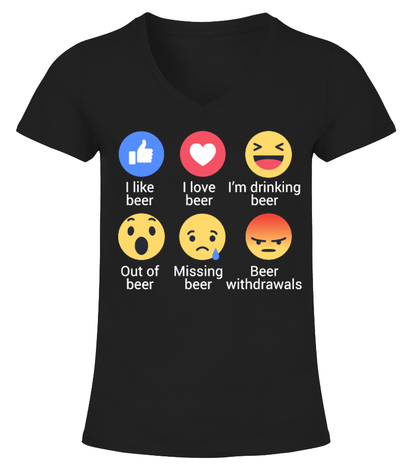 5ea5afce Shop Beer - Funny Beer Shirts - Limited Edition V-neck T-Shirt Woman