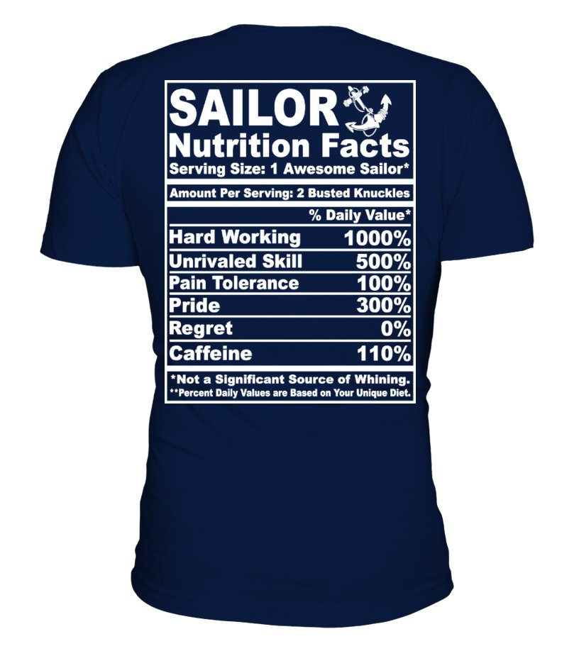Sailor Nutrition Facts (Back Design)
