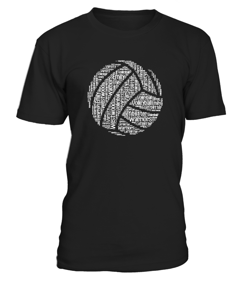 Volleyball words t shirt