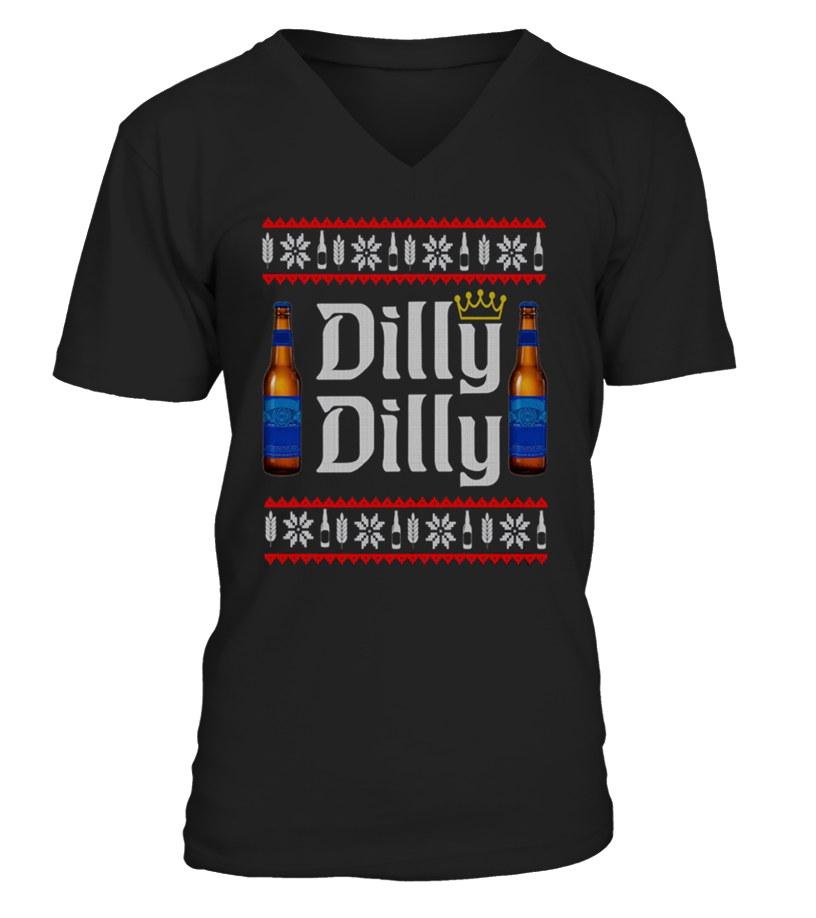 Amazing Christmas - Dilly Dilly Ugly Christmas Tee Shirt V-neck T-Shirt Unisex