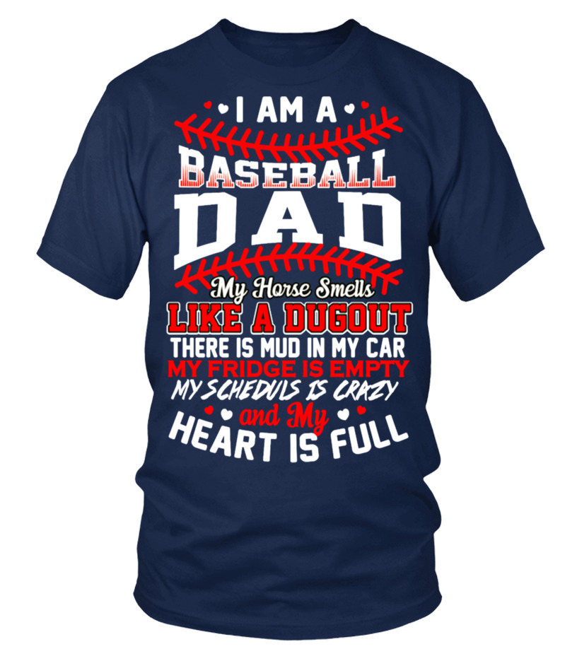 BASEBALL DAD - MY HEART IS FULL AWESOME