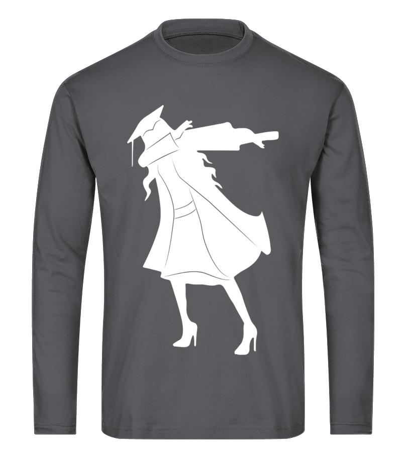 d1c94a1be Shop Tees - Graduation Dab Shirt -Girls Funny Dabbing Senior 2017 Gift Long  sleeved T
