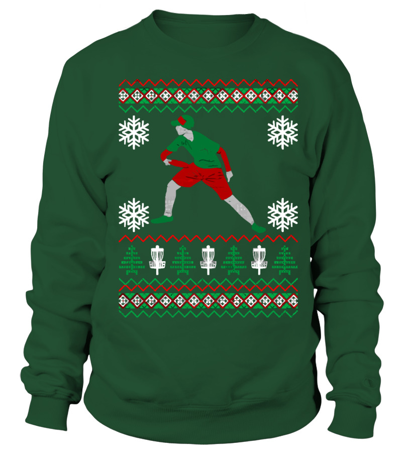 Disc Golf Ugly Christmas Xmas Sweater