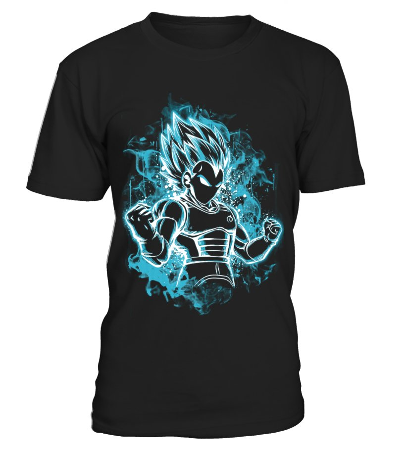 Badass Vegeta Saiyan Blue T-Shirt