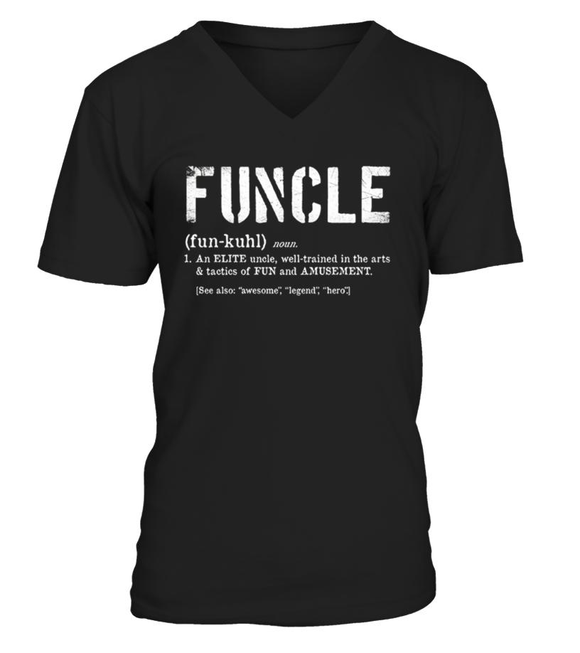 Amazing Vet - Funcle Definition Tshirt for Veteran V-neck T-Shirt Unisex