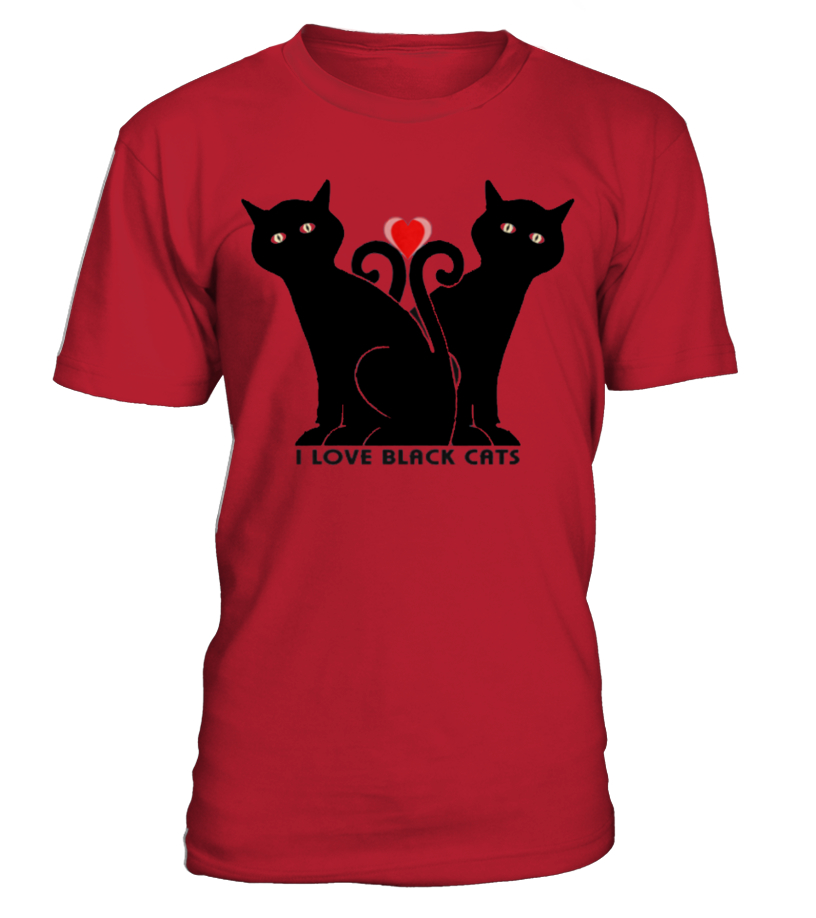 2  BLACK CATS ON THE SHIRT!