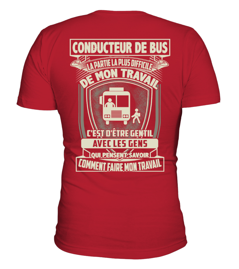 CONDUCTEUR DE BUS T-SHIRT