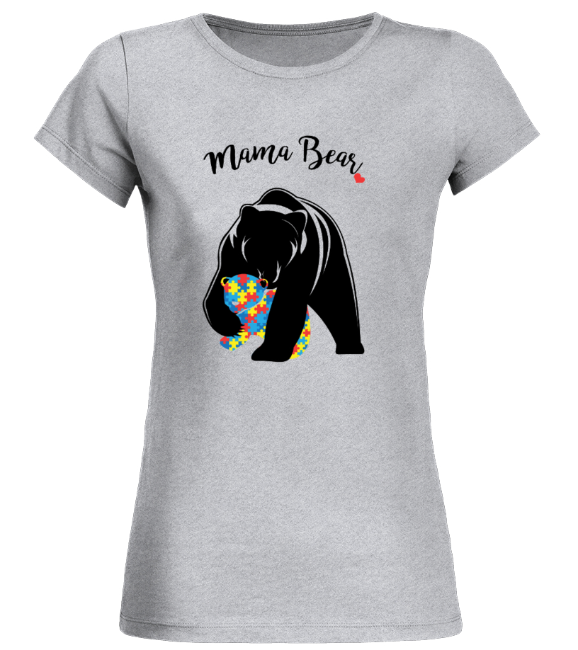 Amazing Mother T-Shirt - Autism Awareness Mom - Mama Bear Round neck T-Shirt Woman