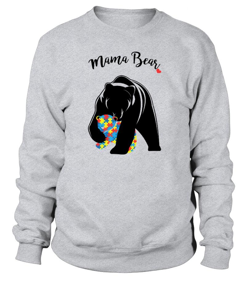 Amazing Mother T-Shirt - Autism Awareness Mom - Mama Bear Sweatshirt Unisex