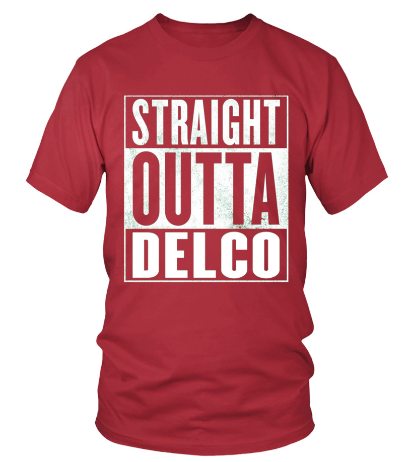 bd215965a27 Excellent Funny Delco Trucker T shirt Straight Outta Delco Shirt Tshirt