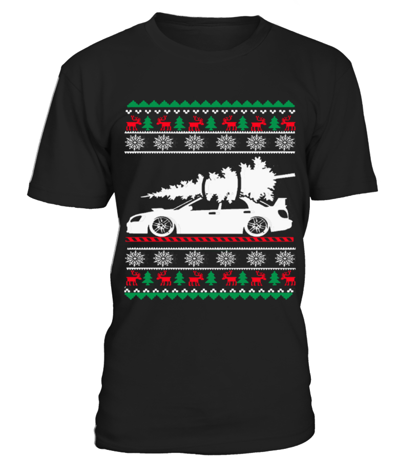 Best Christmas - Ugly Christmas Sweater - CAR CHRISTMAS Round neck T-Shirt Unisex