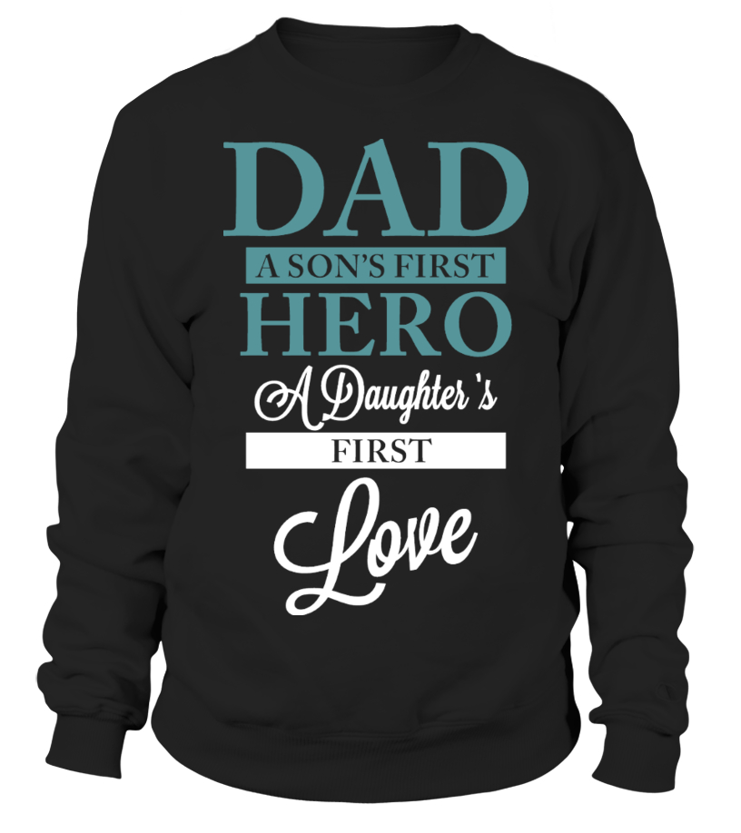 47eee6fb Amazing Animals Father V-neck - DAD - SONS HERO - DAUGHTERS FIRST LOVE  Sweater